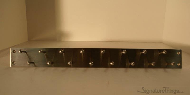 Double Row Tie Racks Wall Mounted Coat Hook Racks 2 Wide Brass Hook Bar Custom Brass Finish Tie Rack Solid Brass Hook Decorative Wall Hooks