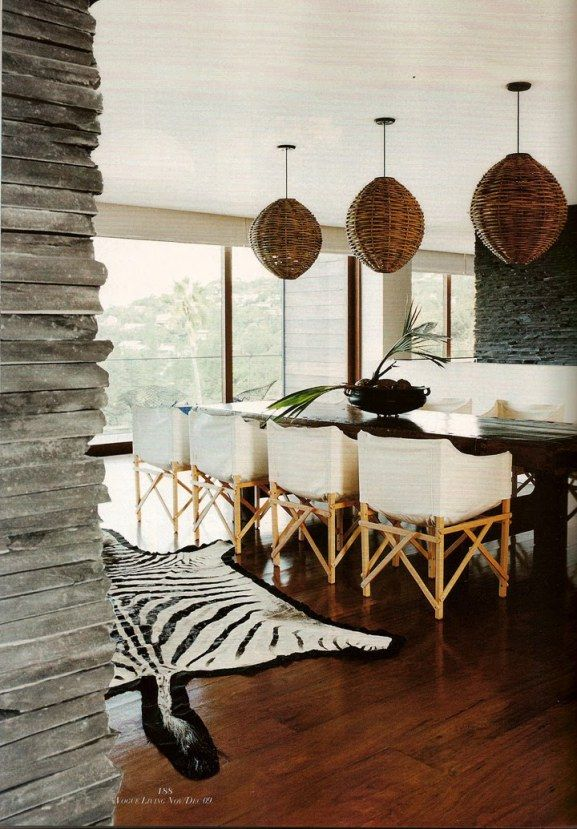35 Exotic African Style Ideas For Your Home  Africans Dining And Simple Zebra Dining Room Chairs Design Decoration