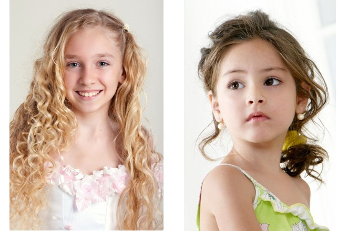 cute hairstyles as party hair for girls- children hairstyles