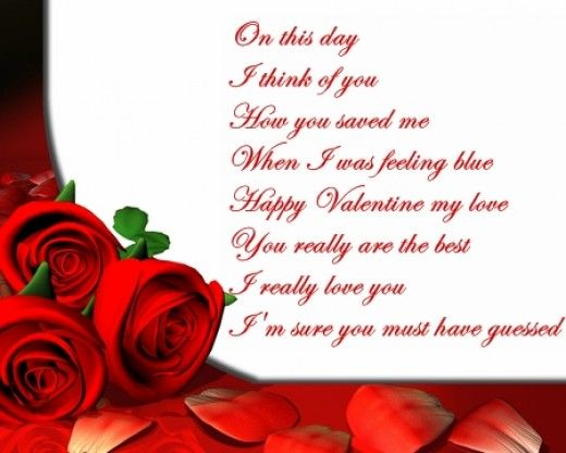 Valentines Day Poems 2016 Romantic Love Poems for Valentines Day – Romantic Valentine Card Sayings