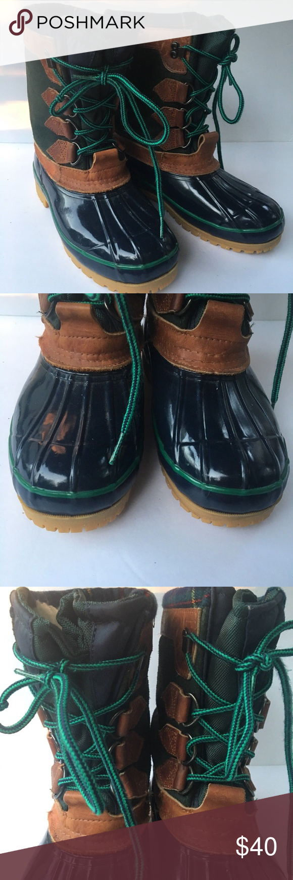 Eddie Bauer Rubber Duck Boots Tall Snow Rain Shoes for