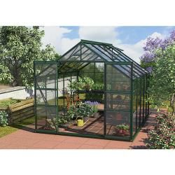 Photo of Vitavia Mars 8300 Plus greenhouse (3.21 x 2.57 x 2.3 m, color: emerald, toughened safety glass