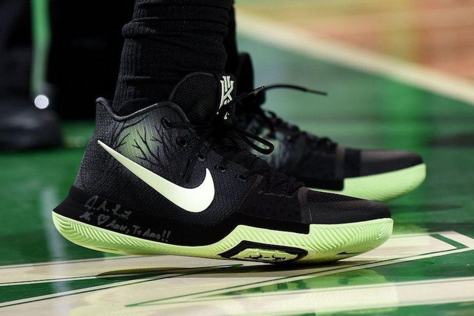 26da69d035a4 Kyrie Irving Dons Nike Kyrie 3
