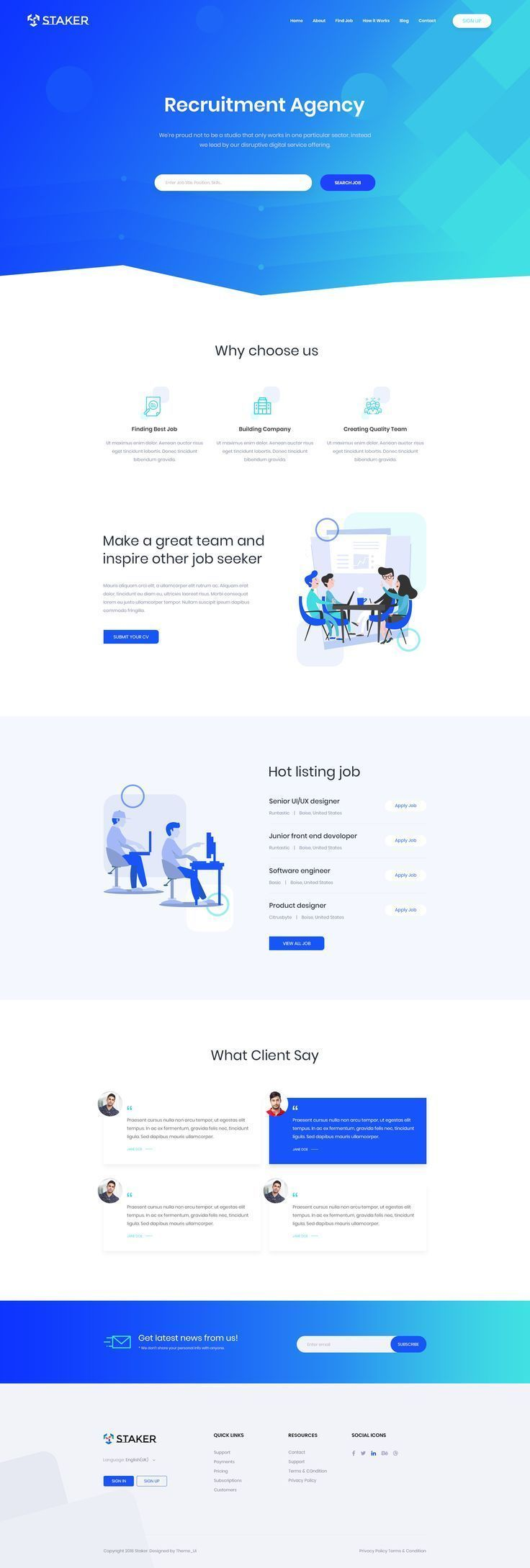 Agency Recruitment Landing Page Web Site Design Recruitment Website Design Web Design Tips Web Design Agency