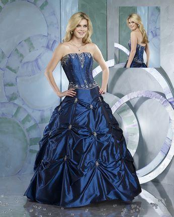 Navy Blue Wedding Dress Or Quinceanera Romantic
