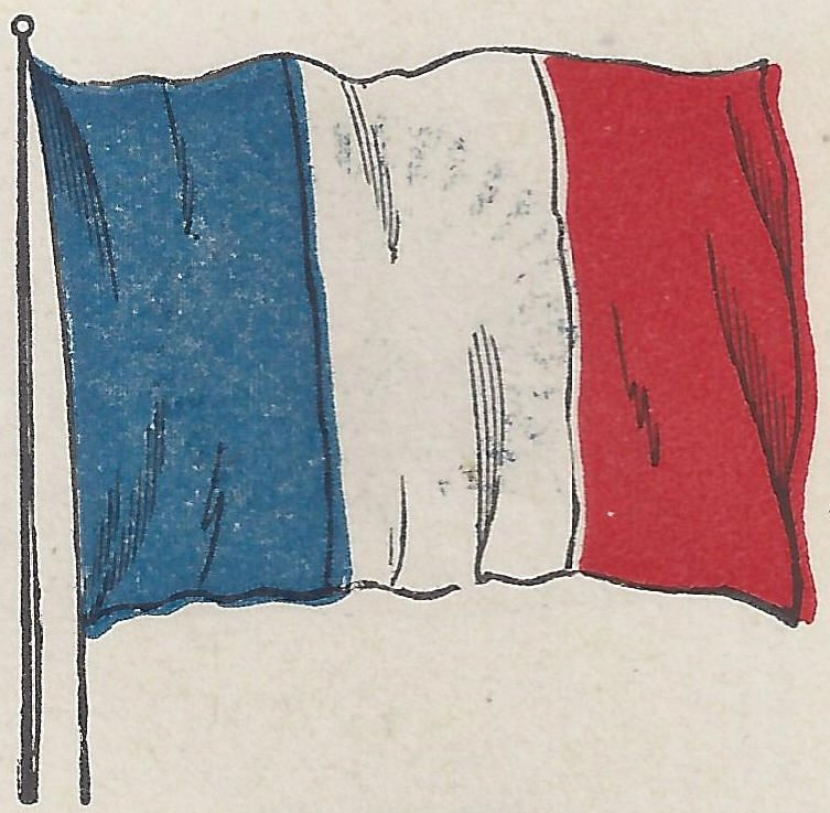 Tricolor Flag Of The French Republic Flag Art French Flag France Drawing