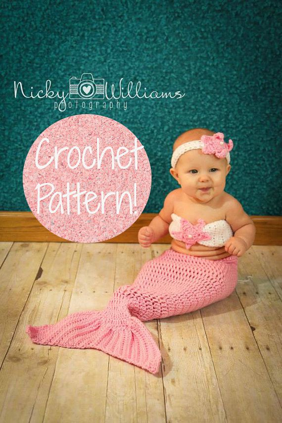 Mermaid Outfit Crochet Pattern. by AdairToCrochet  sc 1 st  Pinterest : crochet mermaid costume pattern  - Germanpascual.Com