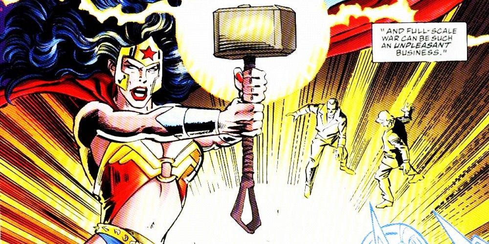 雷神索爾的漫威 80 周年紀念刊承認「超人和神力女超人」持有雷神鎚是正史發展!