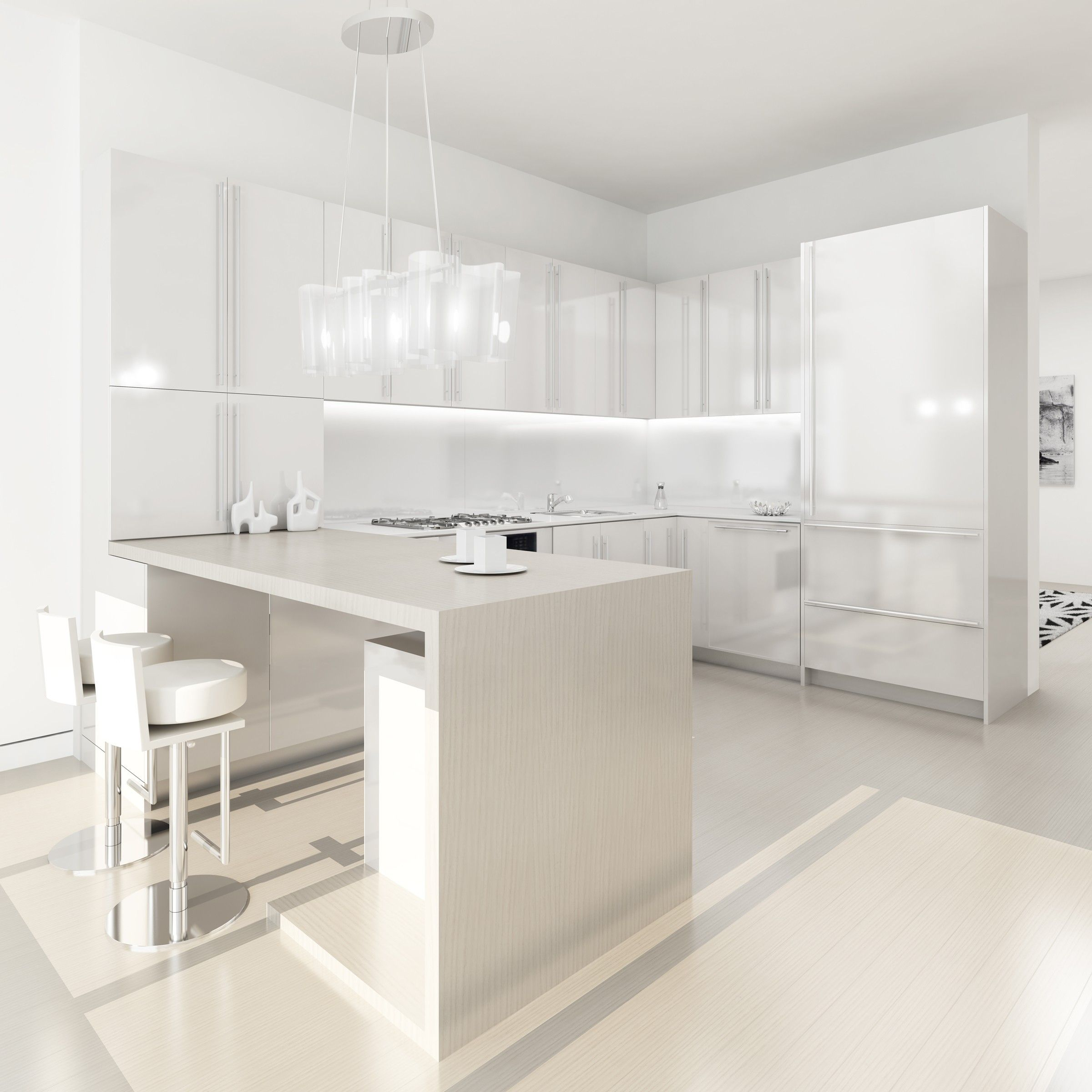 30 Modern White Kitchen Design Ideas And Inspiration Modern White Kitchens Kitchens And Modern