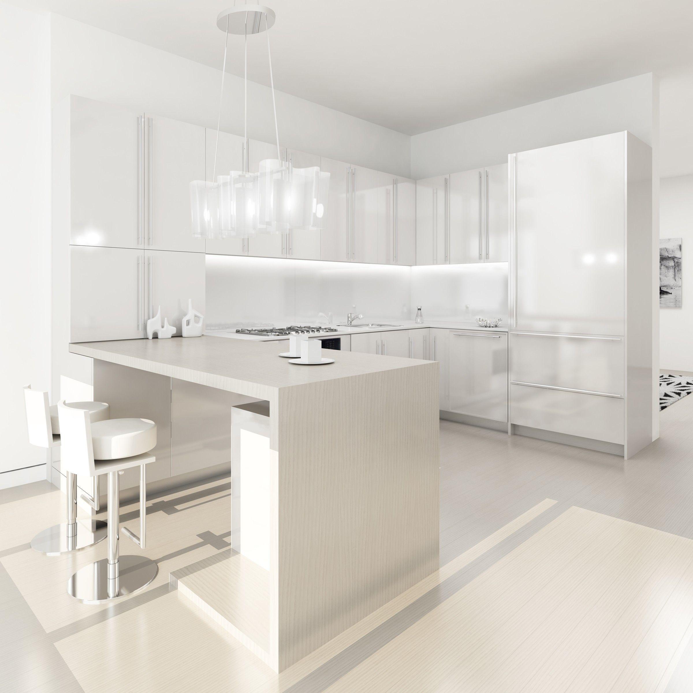 Love modern white kitchens  mutfak  Pinterest  Design Küchen