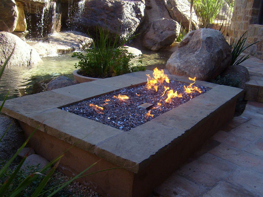 Warming Trends Fr7242ng 72 Rectangle Fire Pit Kit The Pits