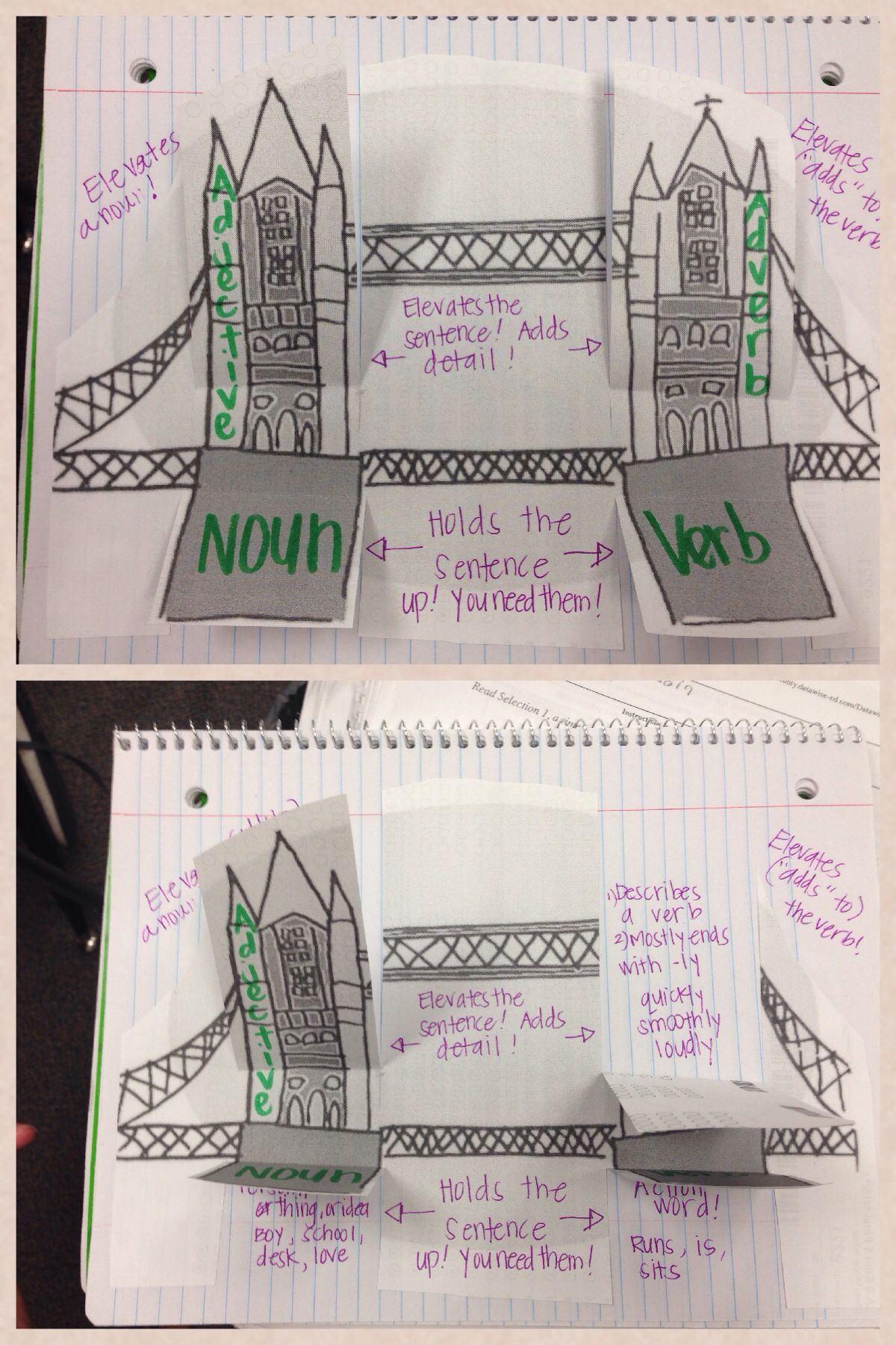 Foldable For Basic Parts Of Speech Helps Students