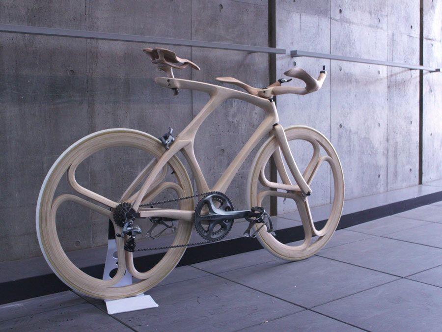 wooden aero bicycle wheels cockpit by tokyo design student yojiro oshima funky