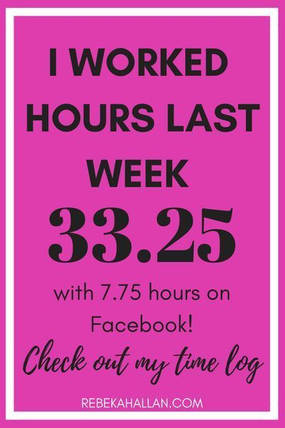 I Worked 33.25 hours last week with 7.75 hours on Facebook | How do I know this? I did a time log of my entire week, to see how much time I actually spend on what. And the results were interesting!