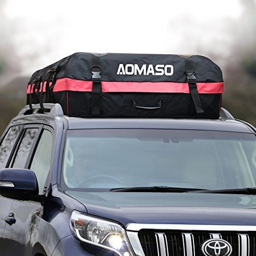Aomaso Car Top Carrier Waterproof Roof Top Cargo Rack 10 Cubic Feet Storage Box Roof Top Bag For Travel And Fully Open Vo Cargo Carriers Cargo Rack Car Packing