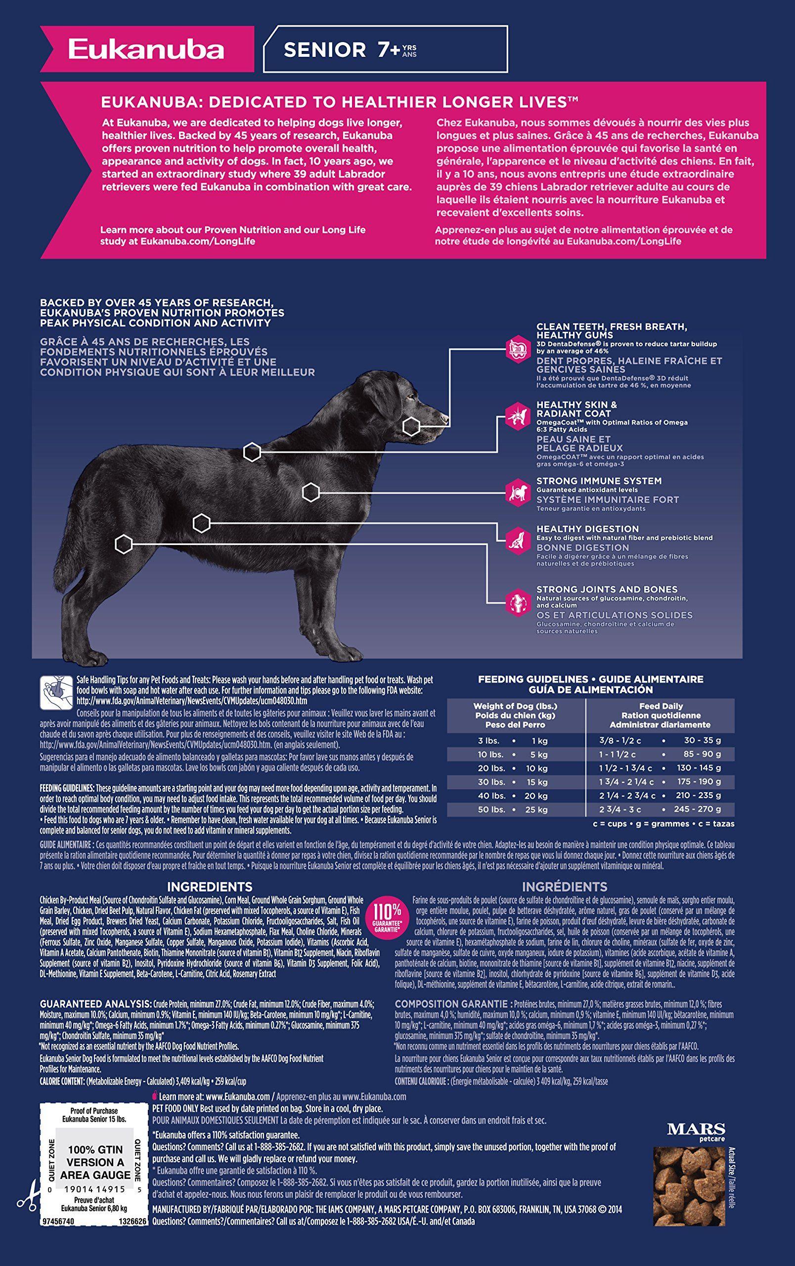 Eukanuba senior maintenance dog food 15 pounds read