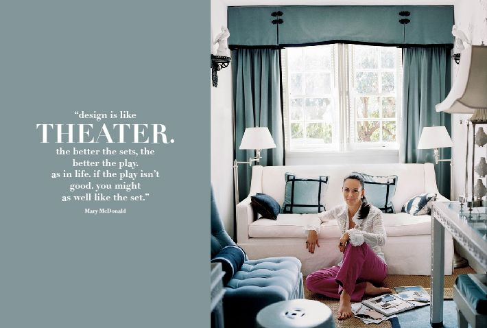 Book review mary mcdonald 39 s interiors pinterest mcdonalds living spaces and white couches for Mary mcdonald interior design book