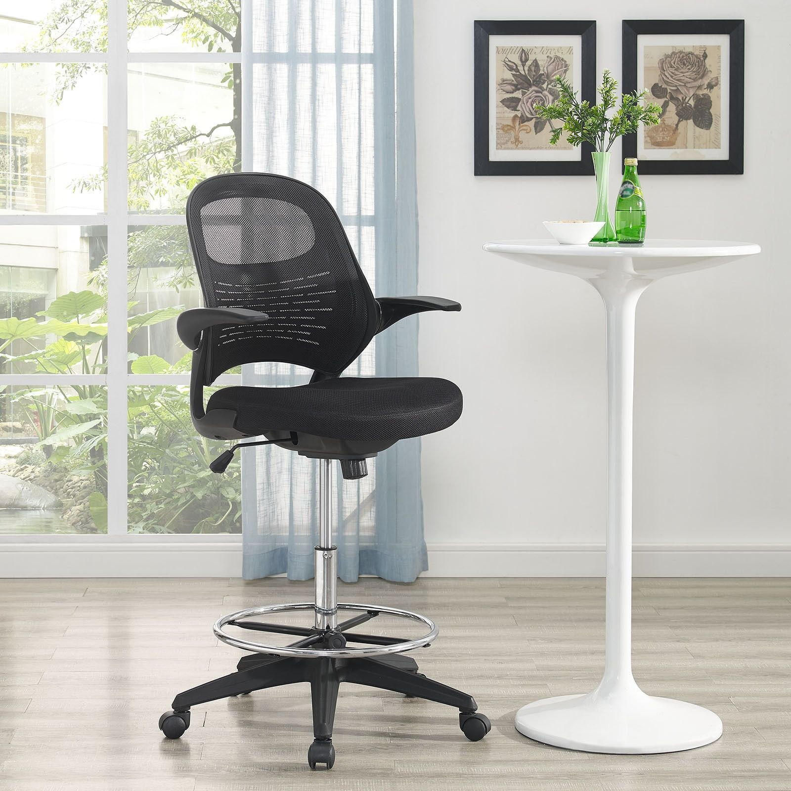 Modway Black Advance Drafting Chair Black Products Drafting
