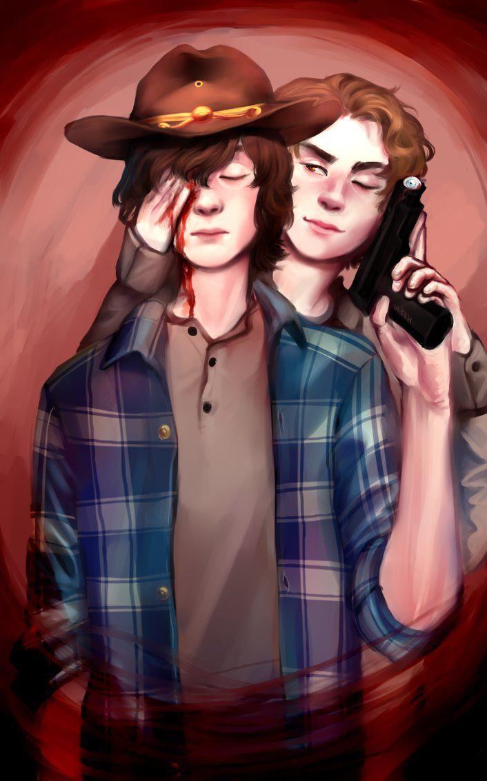 Carl and Ron fan art - TWD   Walking Dead   Walking dead fan art