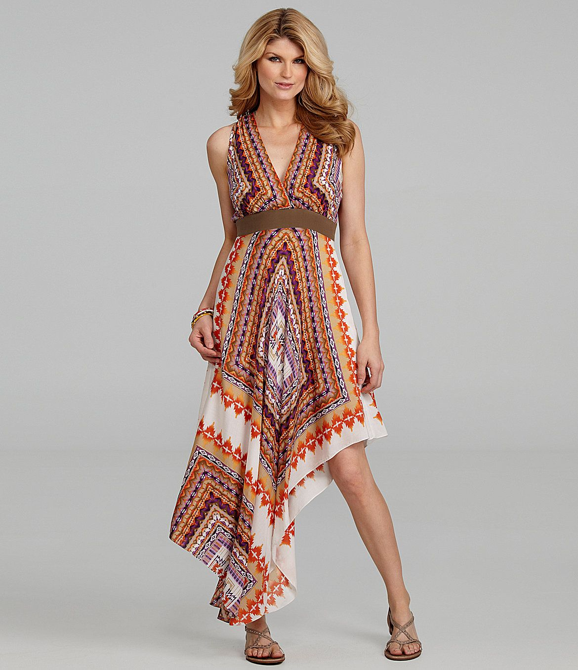 Antonio Melani Lourdes Handkerchief-Print Dress | Dillard's. gorgeous!!
