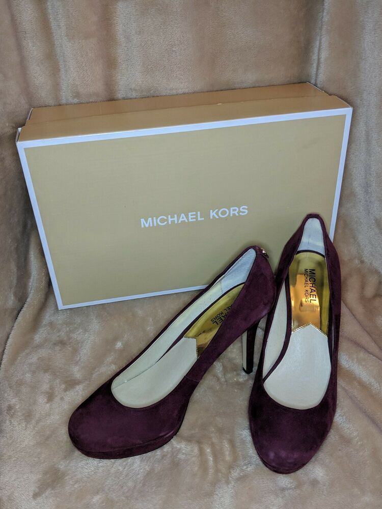 0cdabaa978cb Michael Kors Merlot Suede Ionna Pumps Size 9.5 with Box  fashion  clothing   shoes