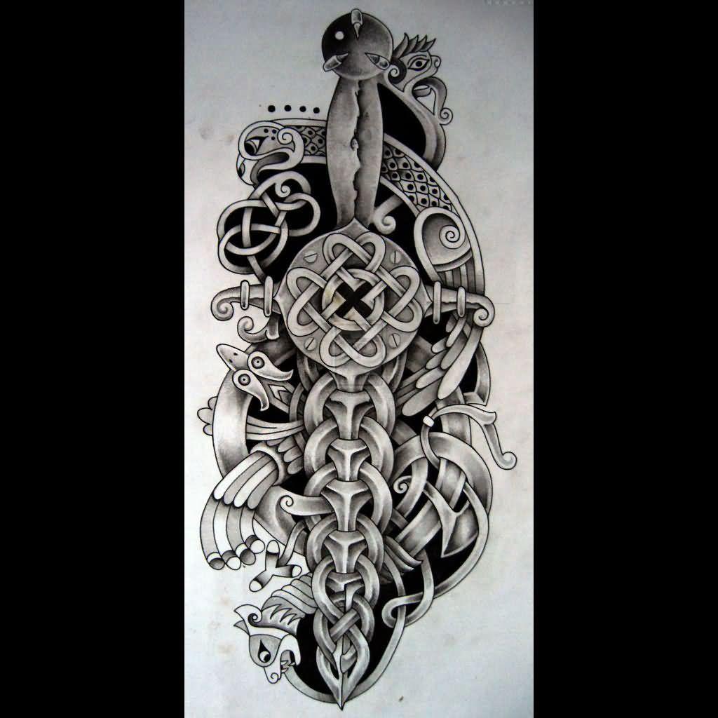 celtic warrior sleeve tattoos wwwpixsharkcom images