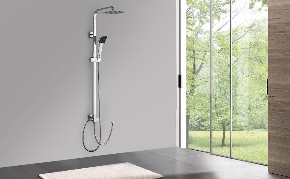 Duscharmatur Duschsystem mit Regendusche und Duschkopf
