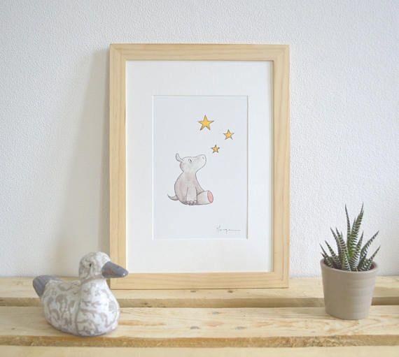 Illustration Chambre Enfant Aquarelle Panda Serie Dans Les