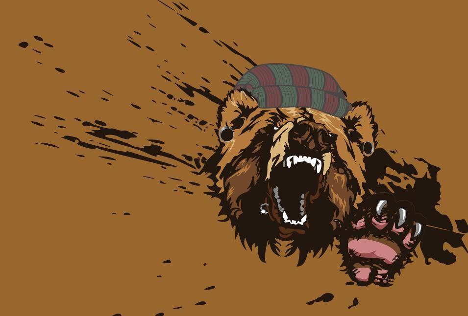 Hipster Bear Google Search Bears Pinterest Bear Bear Design
