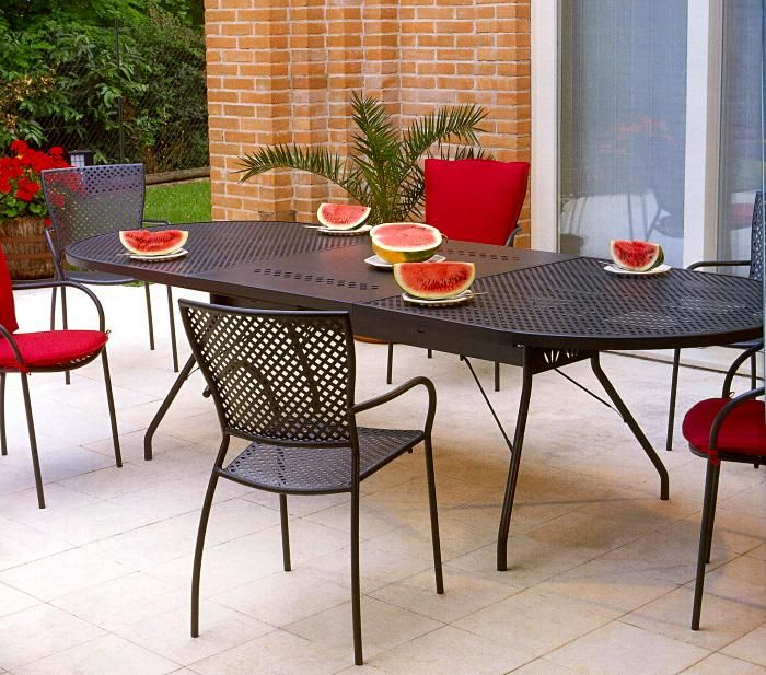 Tavoli E Sedie In Ferro Per Giardino.Tavoli E Sedie In Ferro Zincato Arredamento Giardino In Ferro