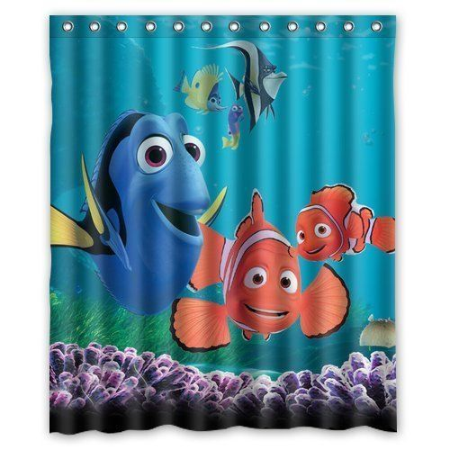 Superior Turtle And Fish Finding Nemo Special Printed Bathroom Shower Curtain  Waterproof Polyester Fabric Bath Curtains 60 Nice Look