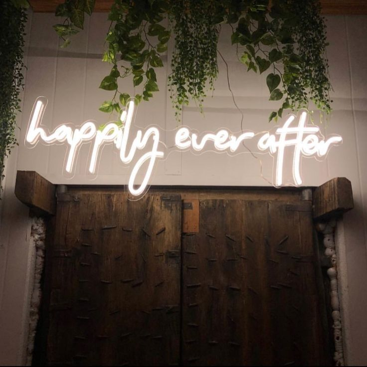 * Happily Ever After * Neon Sign Hire Wedding Signs from