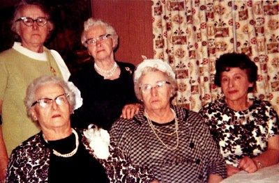Esther,Tillie,Dora,Erma,Ann - the five daughters of Oliva and Damiano Genetti, photographed lated 1960's.