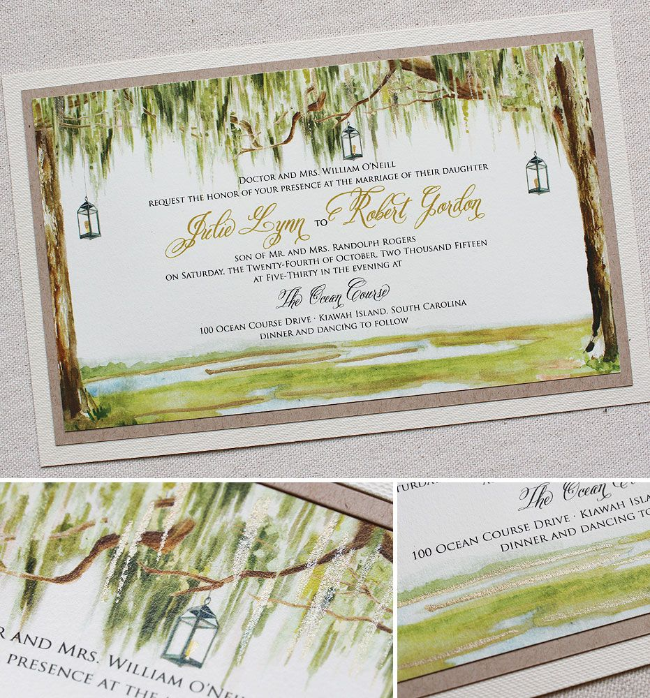Julie O. - Southern Watercolor Tree Wedding Invitation | Southern ...