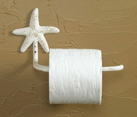 Starfish Toilet Paper Holder With Images Beach House Bathroom