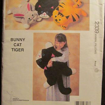 SALE Uncut 1994 Kwik Sew Sewing Pattern, 2339! Animal Pillows ...