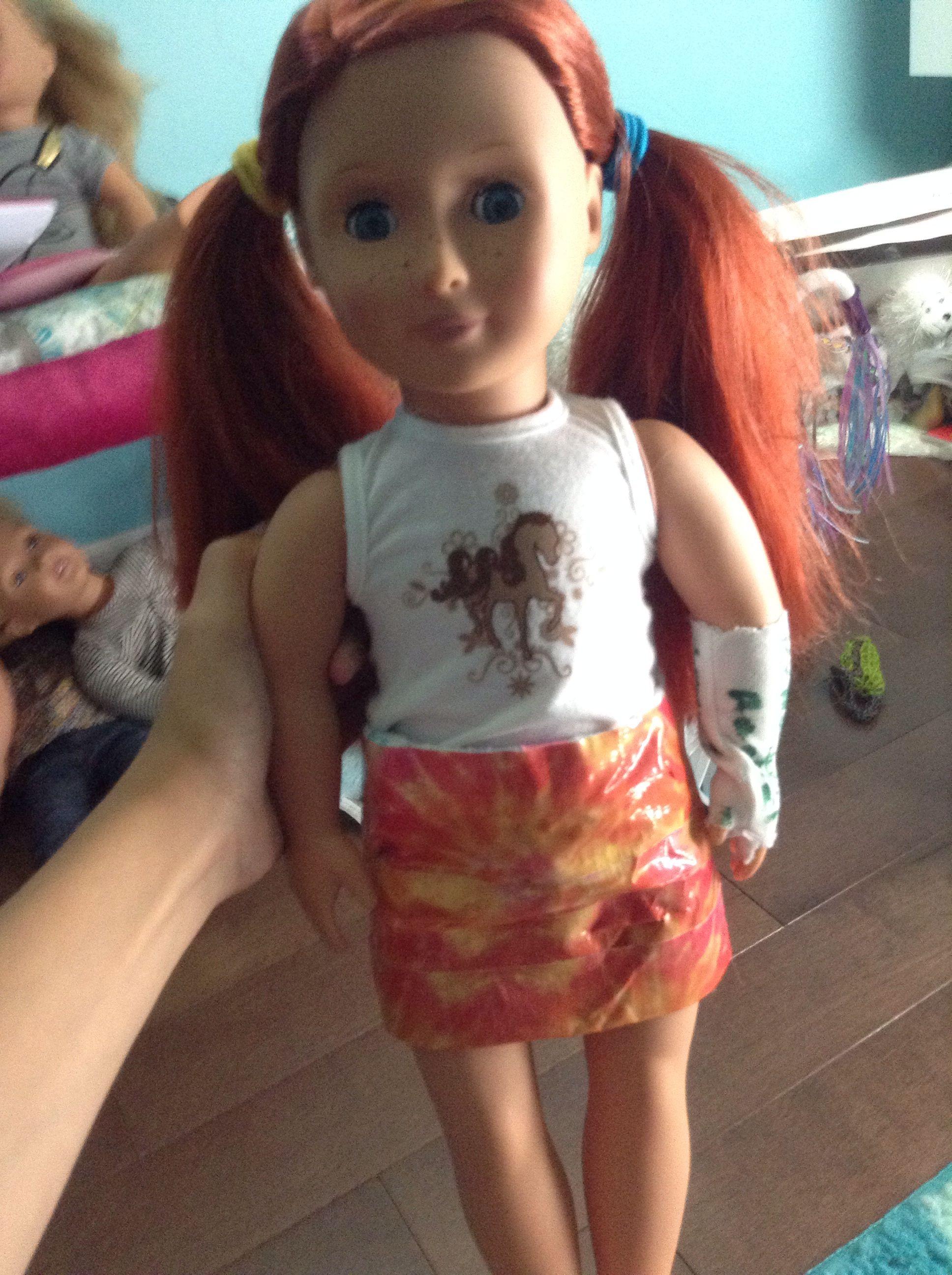 New duck tape skirt for my doll ginny american girl pinterest
