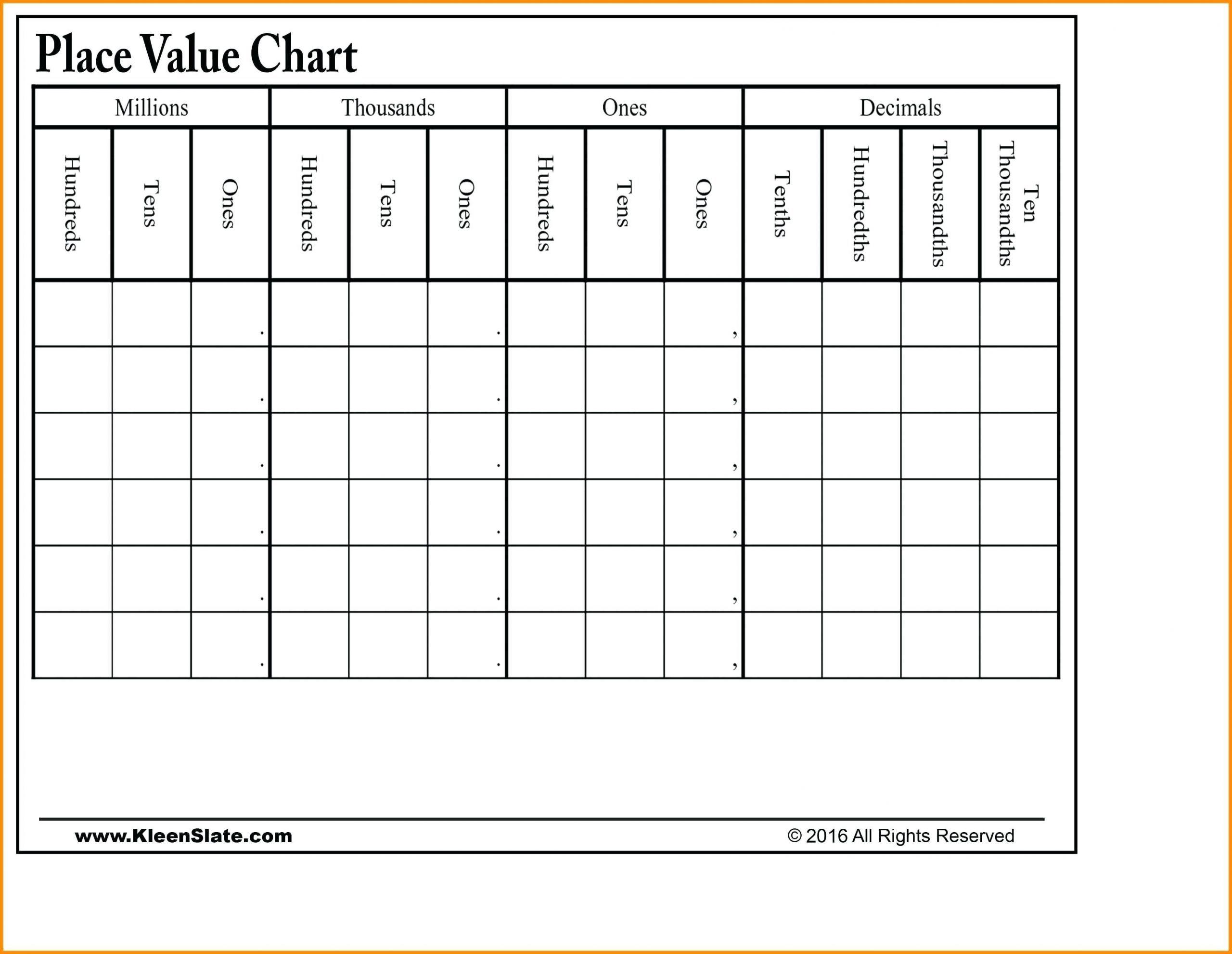 8 New Free Printable Decimal Worksheets Di