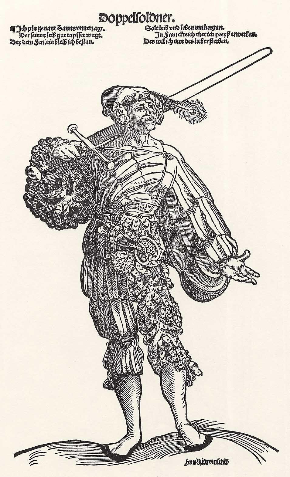 Der Doppelsoldner (um 1536)