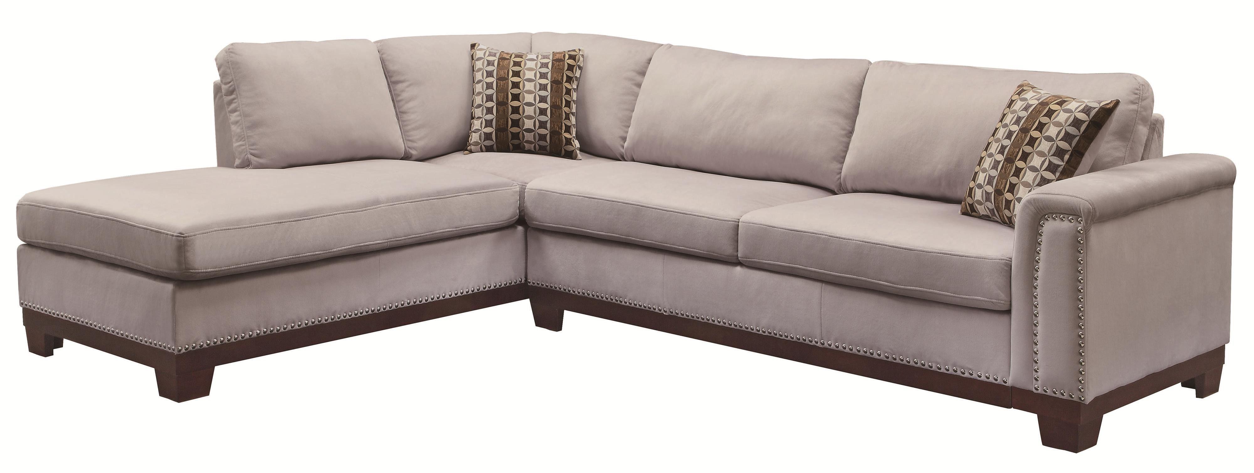 Coaster Mason Track Arm Reversible Sofa Chaise Sectional 503615 ...