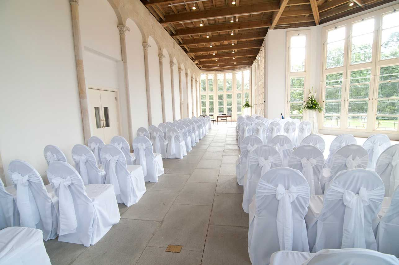 lee holly highcliffe castle wedding Wedding Chair Covers