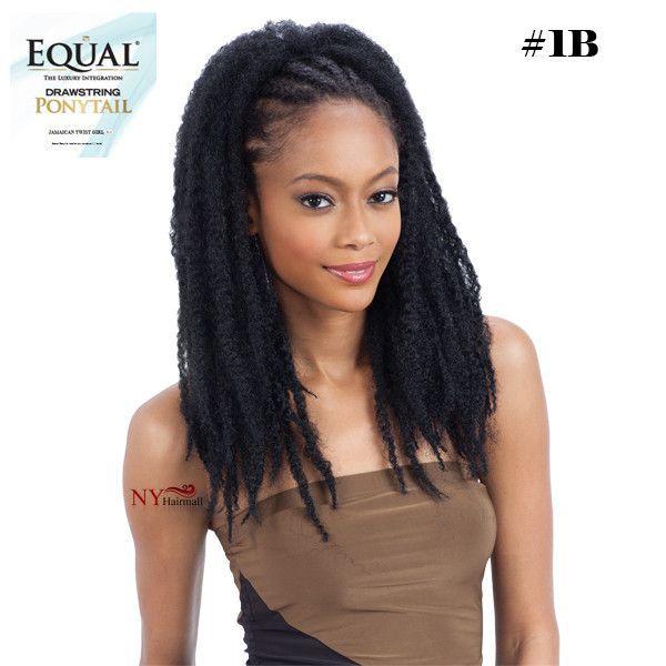 Jamaican Twists Hairstyles For Girls: Freetress Drawstring Ponytail Jamaican Twist Girl
