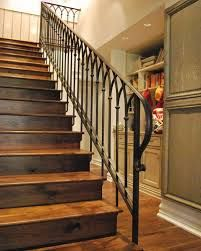 Metal Railing Stairs Cathedral Stair Railing Design