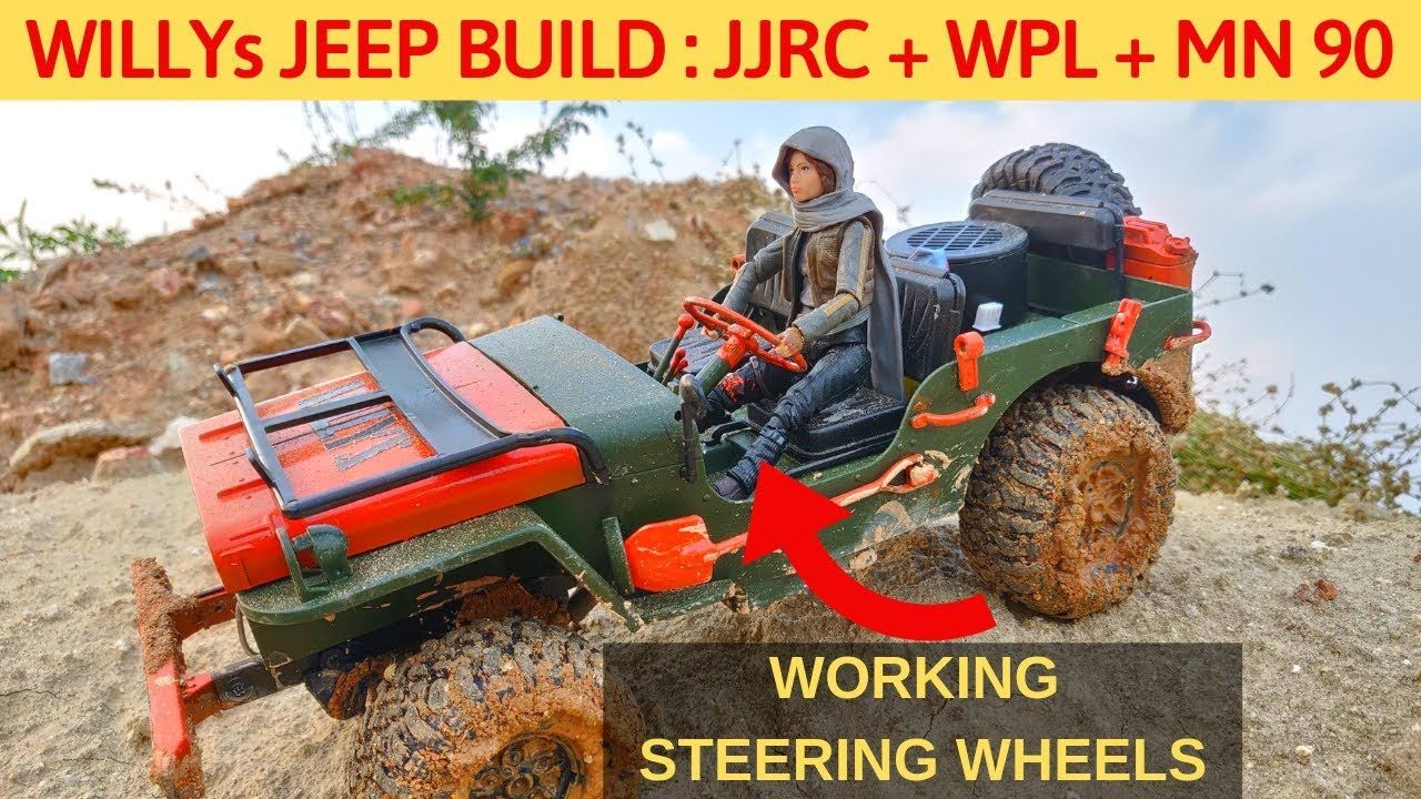 Rc Willys Jeep Made Of Jjrc Q65 Wpl Mn 90 Steering Wheel Sound L Willys Jeep Willys Jeep