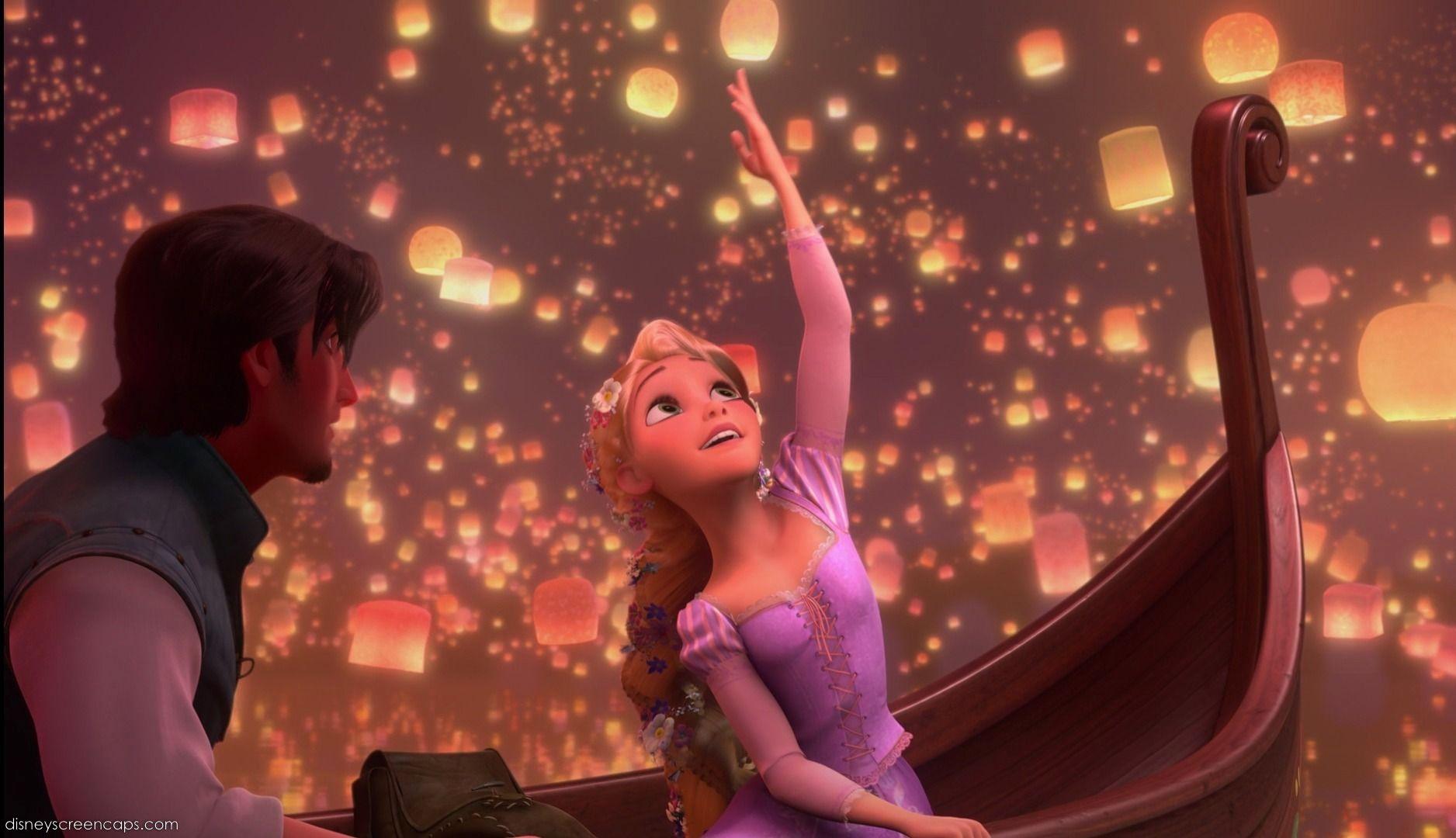 Pin By Tiana Reitano On Disney Princess Disney Tangled Tangled Movie Tangled Lanterns Scene