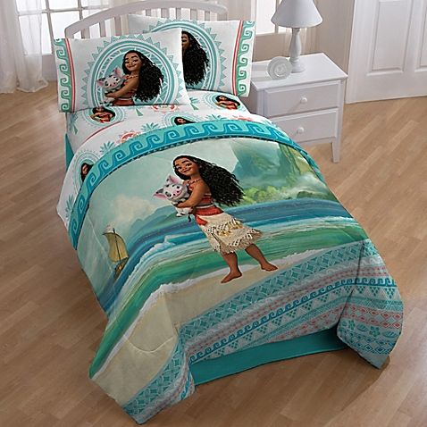 Disney Moana Quot The Wave Quot 4 Piece Twin Comforter Set In Aqua