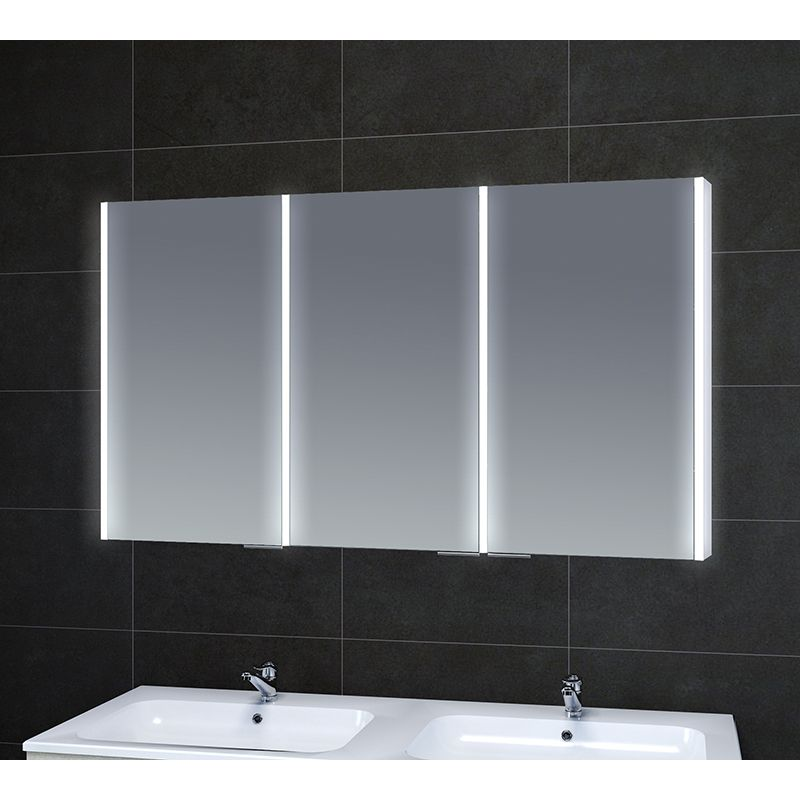 Large 1000mm Illuminated Bathroom Mirror Cabinet With Loads Of Storage And Demister Pads Illuminated Bathroom Cabinets Large Bathroom Mirrors Mirror Cabinets