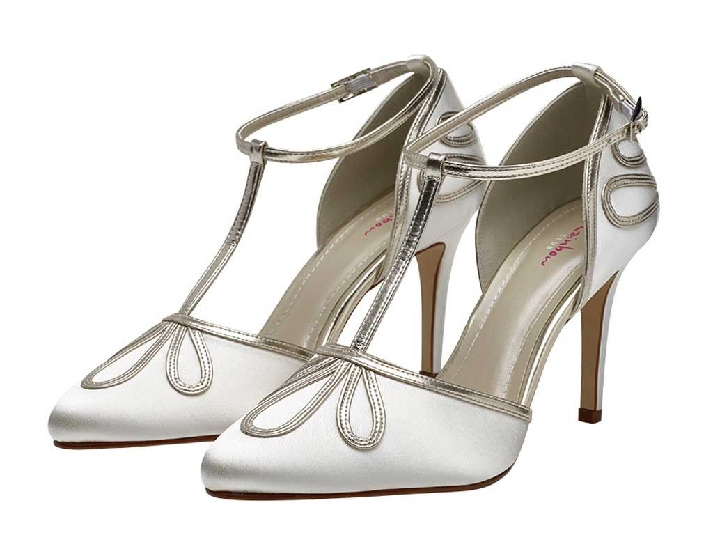 Elspeth T Bar Satin Court Wedding Shoes