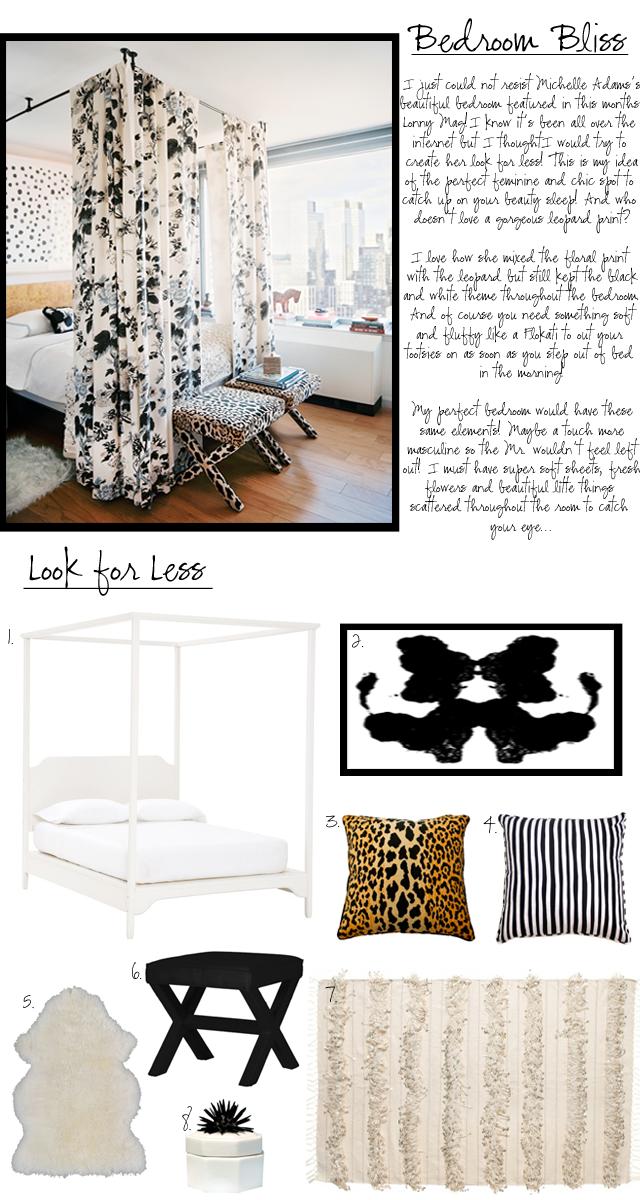 On the blog today: Michelle Adams's Bedroom look 4 less!    #michelleadams #Lonny #bedrooms