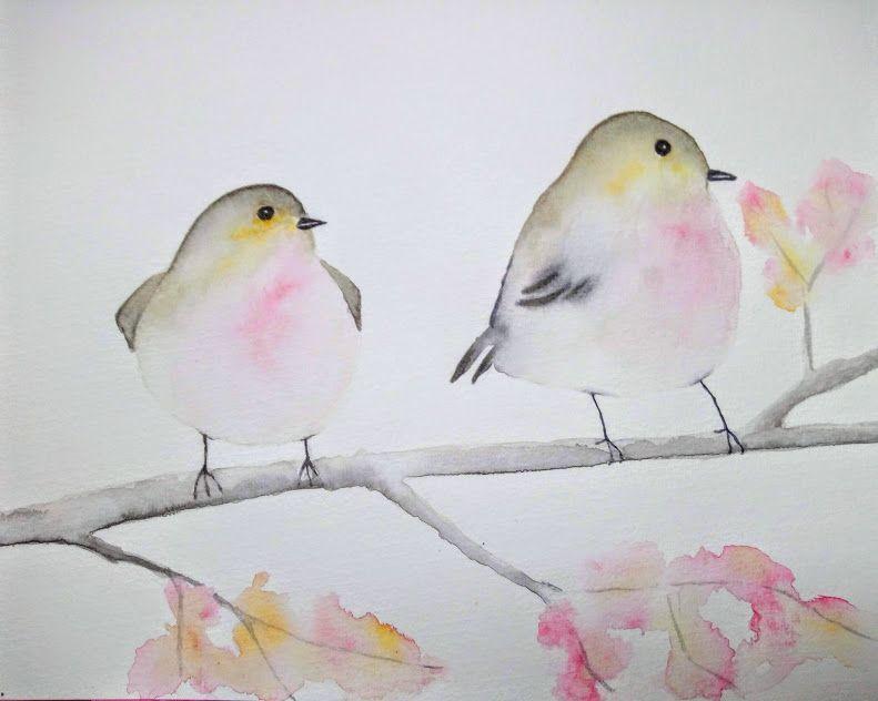 Tuto Aquarelle Comment Peindre Un Oiseau Art Painting Drawings